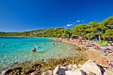 Fototapety Crystal clear turquoise beach in Croatia