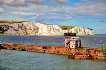 Cliffs in Dover, UK.