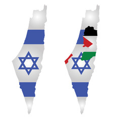 Flag of Israel and Palestine
