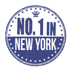 Number one in New York stamp