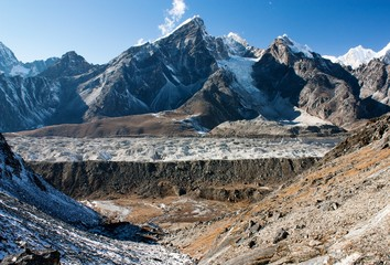 khumbu glacier and lobuche peak from Kongma la