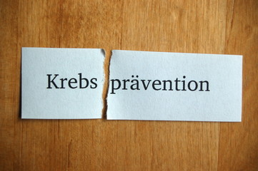 Krebs-prävention
