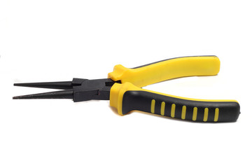 Pliers round with strong yellow-black handle