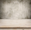 Wooden table on defocuced vintage wall background - 69762131
