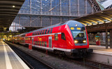 Regional express train in Frankfurt am Main station, Germany - 69762728