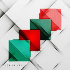 Geometric squares and rhombus futuristic template