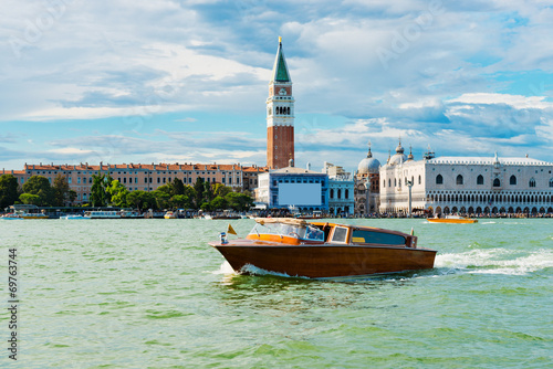 Aluminium Venetie sea view Piazza San Marco with Campanile and Doge Palace