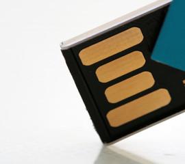macro of USB stick