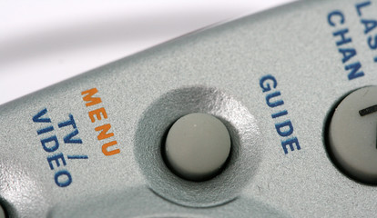 Close up of remote control