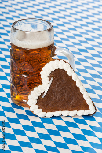 canvas print picture Bier mit Herz
