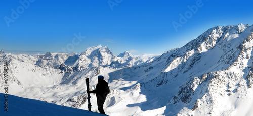 canvas print picture sport d'hiver