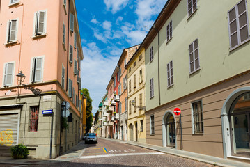 Beautiful street view in Parma. Italy