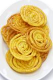 jalebi indian sweet isolated on white background