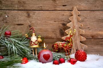 Nostalgische Weihnachtsdeko