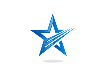 star loop abstract vector logo