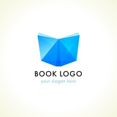 logo for book shop, online learning