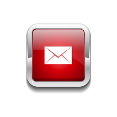 Email Rounded Rectangular Vector Red Web Icon Button