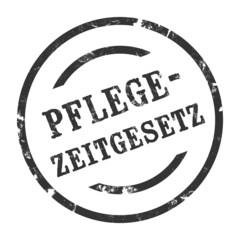 sk152 - StempelGrafik Rund - Pflegezeitgesetz - g1582