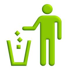 Simbolo gettare rifiuti