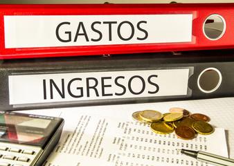 GASTOS INGRESOS (contabilidad, archivador)