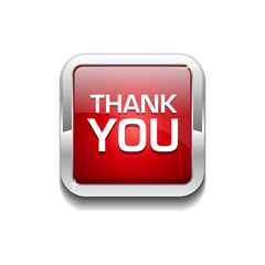 Thank You Glossy Shiny Rounded Rectangular Vector Button