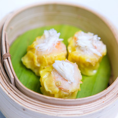 Steamed shrimp dumplings dim sum