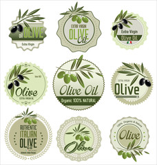 Olive retro labels