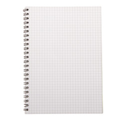 Close up of blank notebook
