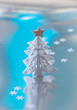 Decorative white Christmas tree