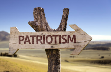 Patriotism sign with a desert background