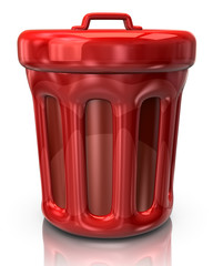 Red trash can icon