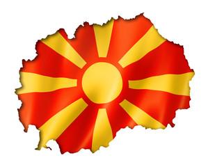 Macedonian flag map