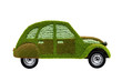 Bewachsenes Öko-Auto