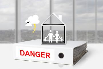 office binder thunderstorm danger family house