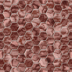 Hexacomb tiling seamless generated texture