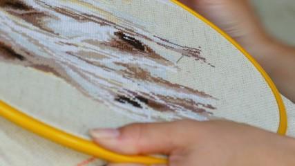 Needlework.