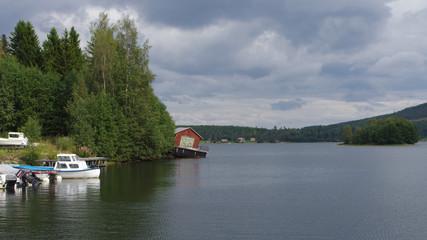 Maison sur un ponton en Suède