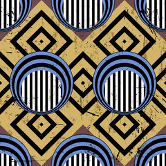 seamless pattern background, retro/vintage style, with circles,
