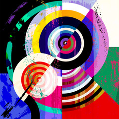 abstract geometric illustration with circles