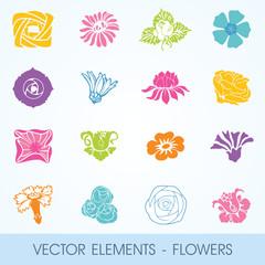 vector elements - flowers