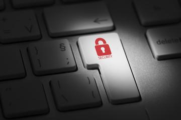 Security Computing Key On Computer Keyboard