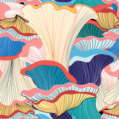 pattern with mushrooms