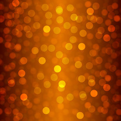 summer orange background with bokeh and lens flare pattern