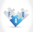faq puzzle pieces illustration design