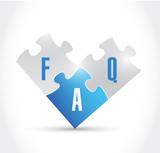 faq puzzle pieces illustration design