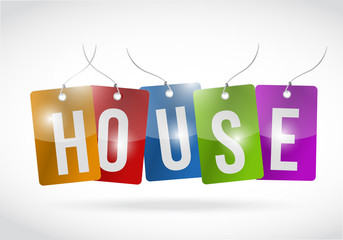 house tags illustration design