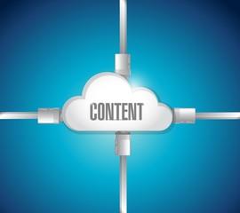 content connection cables illustration design