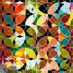abstract geometric pattern background, retro/vintage style, with