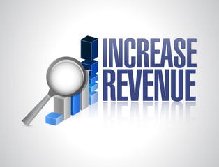 increase revenue business sign illustration