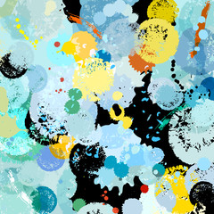 abstract background with paint splashes